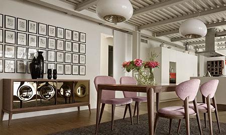 Arredamento in stile contemporaneo volpi lo stile in casa for Sala da pranzo stile contemporaneo
