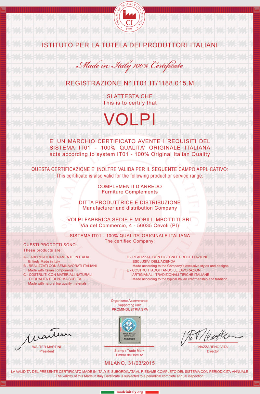 Produttori Complementi D Arredo.Volpi News 100 Made In Italy
